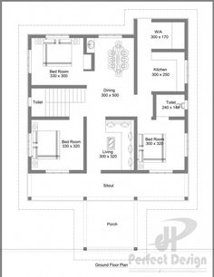 Bungalow house designs series php 2015016 is a 3 bedroom for 110 sq ft bedroom design