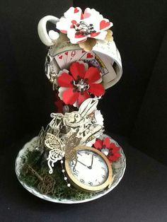 Alice in Wonderland teacup decor