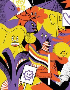 A selection of work by Berlin-based illustrator and graphic designer Larissa Hoff. Anton Van, Environmental Design, Music Film, Photo Projects, Drawing Tools, Community Art, Graphic Design Illustration, Storytelling, Illustrators
