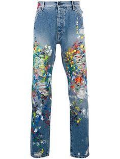 PALM ANGELS paint splash jeans. #palmangels #cloth #jeans