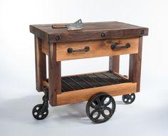 Butcher Block Kitchen Cart Diy - Kitchen Set : Home Furniture . Butcher Block Kitchen Cart, Kitchen Carts On Wheels, Butcher Block Island, Butcher Block Tables, Butcher Block Countertops, Butcher Blocks, Portable Kitchen Island, Kitchen Island Cart, Kitchen Islands