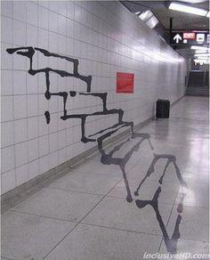 optical illusion art, street art