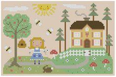 Goldilocks Cross Stitch Pattern por Theflossbox en Etsy
