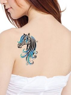 10 Best Horse Tattoo Designs. without the curly and blue mane