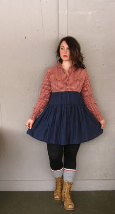 2a0ada6e058 small medium upcycled Romantic Tunic dress   by lillienoradrygoods Bohemian  Shirt