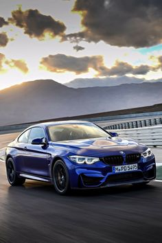 BMW F82 M4 CS blue