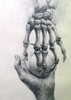 Sketchbook Assignments - AP Studio Art with Mrs. Anatomy Drawing, Anatomy Art, Demon Drawings, Art Drawings, Skeleton Hands Drawing, Hand Kunst, Creepy Hand, Sketchbook Assignments, Ap Studio Art