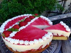 Erdbeer- Zitronen- Torte, gut gekühlt ein Genuss
