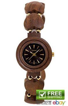 Tense Womens Wooden Watches Wrist Maria Collection Designed Elegant Calendar US #TenseWatch