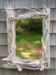 Cape Cod Driftwood Furniture, Driftwood Table, Driftwood Wreath, Driftwood Mirror, Drift Wood Art: