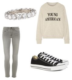 """""""Untitled #1"""" by nariahharris225 ❤ liked on Polyvore featuring Frame Denim, The Elder Statesman, Converse and Tiffany & Co."""