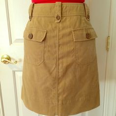 Soft Paper Boy cargo pencil skirt Brushed moleskin cotton skirt in beige. Has back flap pockets, front side pockets and cargo pockets. Like new condition. Second pic is same skirt in green for more detail. Anthropologie Skirts