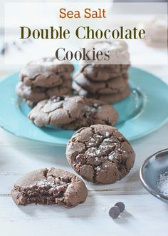 Double Chocolate Cookies with Sea Salt!  Big flavor in a super easy cookie!