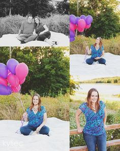 Maternity photos with balloons. Maternity poses. Dallas TX Portrait, Newborn and Wedding Photographer » Kylie C. Photography