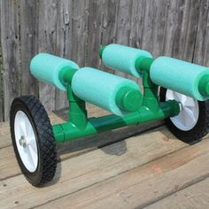 Portage cart for canoes and kayaks - need to make one of these