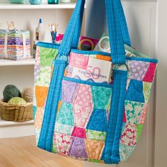 This roomy tote is a great project to use up scraps and the GO! Tumbler-3 1/2″ (3″ Finished) (55015) makes cutting those scraps a breeze! You can tailor the size of the inside pockets to fit your personal needs. Make a tote to carry everything you need for the office, your quilt class or the...
