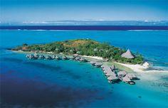 An Absolutely Breathtaking Private Island Beach Resort in Bora Bora...