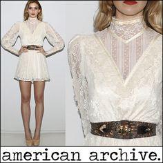 Vintage 70s Gunne Sax Lace Boho Hippie  Dress