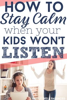 Does it feel like your child is ignoring you? You ask them to do a simple task and they just won't listen. Yelling doesn't work and only makes you feel bad. Learn how to stay calm when your child won't listen. Raising Godly Children, Raising Kids, My Children, Good Parenting, Parenting Hacks, Kids Wont Listen, Outdoor Games For Kids, Stay Calm, Christian Parenting