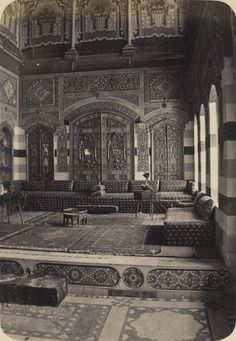 English Consulate's reception room in Damascus, Syria 18th century