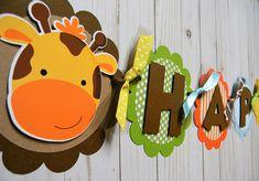 Bandera fiesta de cumpleaños de Safari Animal Themed Birthday Party, Jungle Theme Birthday, Safari Theme Party, Jungle Party, Baby Party, Birthday Party Themes, Dinosaur Party, Baby Shower Themes, First Birthdays