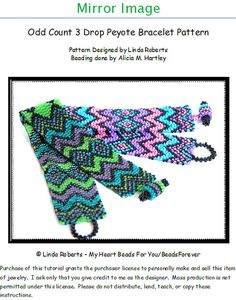 This listing is for the beading instructions only. The actual bracelet is not for sale. This intermediate level pattern provides instruction for