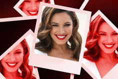 Kelly Brook Cannes show off her colourful barnet