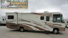 In this class A motor home your family trips will create memories that will last a lifetime! Thanks to having a full kitchen, full bath and ...See more at BudgetRVsOfTexas.com