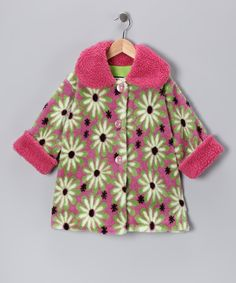 Rose & Green Daisy Sweet Pea Coat - Infant, Toddler & Girls | Daily deals for moms, babies and kids