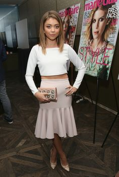 Sarah Hyland attends Marie Claire Celebrates May Cover Stars on April 8, 2014 in West Hollywood, California.
