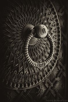 From a series: old Armenian doors. Suren Manvelyan. doorknocker - mandala