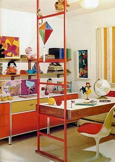 70's decor.  My bedroom had this exact color scheme. Dyno-mite!