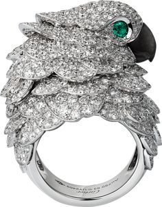High Jewellery watch18K white gold, diamonds, obsidian