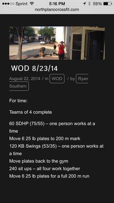 Teams of 4 or Partner WOD Crossfit
