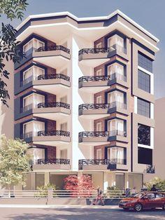 Residential Building Design, Architecture Building Design, Residential Architecture, Modern Apartment Design, Duplex House Design, House Outside Design, House Front Design, Model House Plan, Architectural House Plans