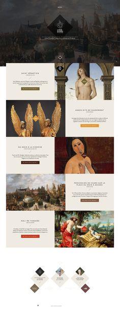 La Région des musées  Nord Pas de Calais - webdesign
