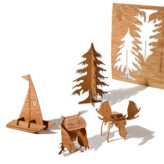 Wood postcards of Canada (Set Of 5) by formes Berlin