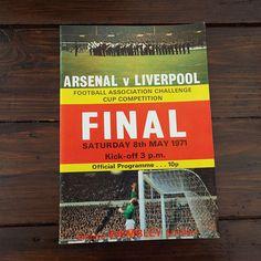 Vintage 1971 Arsenal Versus Liverpool Football Soccer Programme  FA Cup Final by VintageBlackCatz on Etsy
