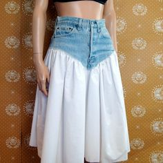 80s High Waisted Denim LEVI Poof Skirt S by poetryforjane on Etsy, $36.00