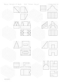 losmuertosdeldiedrico: PERSPECTIVA ISOMÉTRICA-croquis Isometric Drawing Exercises, Isometric Art, Drawing Practice, Drawing Lessons, Orthographic Drawing, Geometric Drawing, Technical Drawing, Art Drawings, Projects To Try