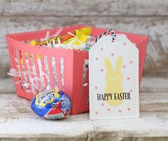 Happy Easter Tag and Basket by Laurie Willison for Papertrey Ink (February 2016)