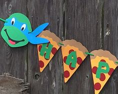 Pizza Banner with Ninjas