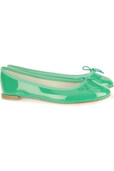 Ballerina shoes by Repetto....Such a great spring color I love these !!