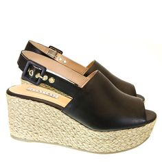 Sandália Anabela 88520 Lia Line   Moselle sapatos finos femininos! Moselle sua boutique online.