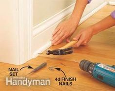 A snap-together fastening system simplifies laminate floor laying. No glue, no nails. You can do it in a weekend.
