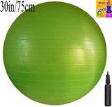 Fitness Ball with Air Pump, Green, 75cm/30in Diameter, Instruction Chart Included, Exercise Gym Swiss Stability Ball - http://47yoga.com/fitness-ball-with-air-pump-green-75cm30in-diameter-instruction-chart-included-exercise-gym-swiss-stability-ball/  Fitness Ball with Air Pump, Green, 75cm/30in Diameter, Instruction Chart Included, Exercise Gym Swiss Stability Ball   Durable Anti-Burst 75cm (30 inch) Exercise Gym Ball. Includes 1 Page A3 Size Instruction Chart. No instructi