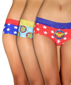 Look at this Wonder Woman Briefs Set - Women by Undergirl Wonder Woman Outfit, Wonder Woman Party, Batman Wonder Woman, Wonder Woman Comic, Wonder Women, Comic Clothes, Women's Briefs, Geek Fashion, Girls Rules