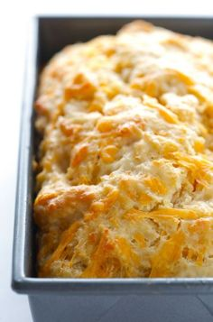 Garlic Cheddar Beer Bread - maybe add some crumbed bacon for a morning tailgate