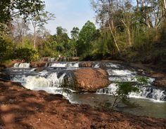 Stunning waterfall in a cambodian jungle #waterfall #nature #cambodia #jungle