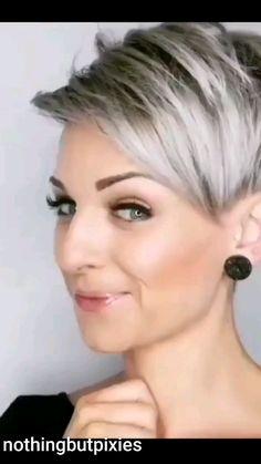 Short Hair Over 60, Short White Hair, Short Cropped Hair, Edgy Short Hair, Short Hair Cuts For Women, Pixie Hairstyles, Headband Hairstyles, Crop Hair, Shot Hair Styles